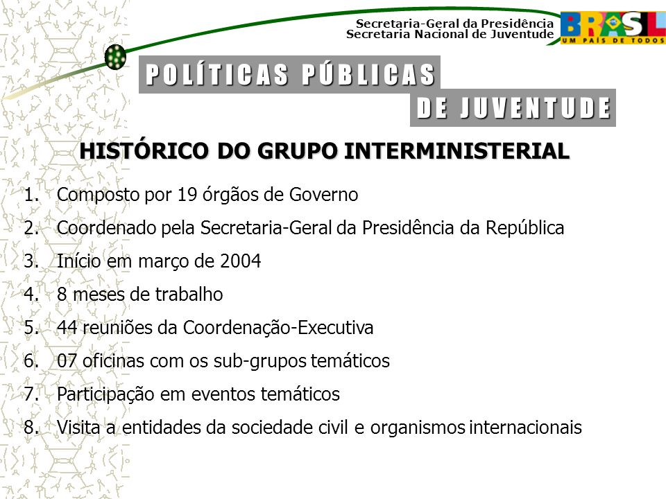 HISTÓRICO DO GRUPO INTERMINISTERIAL