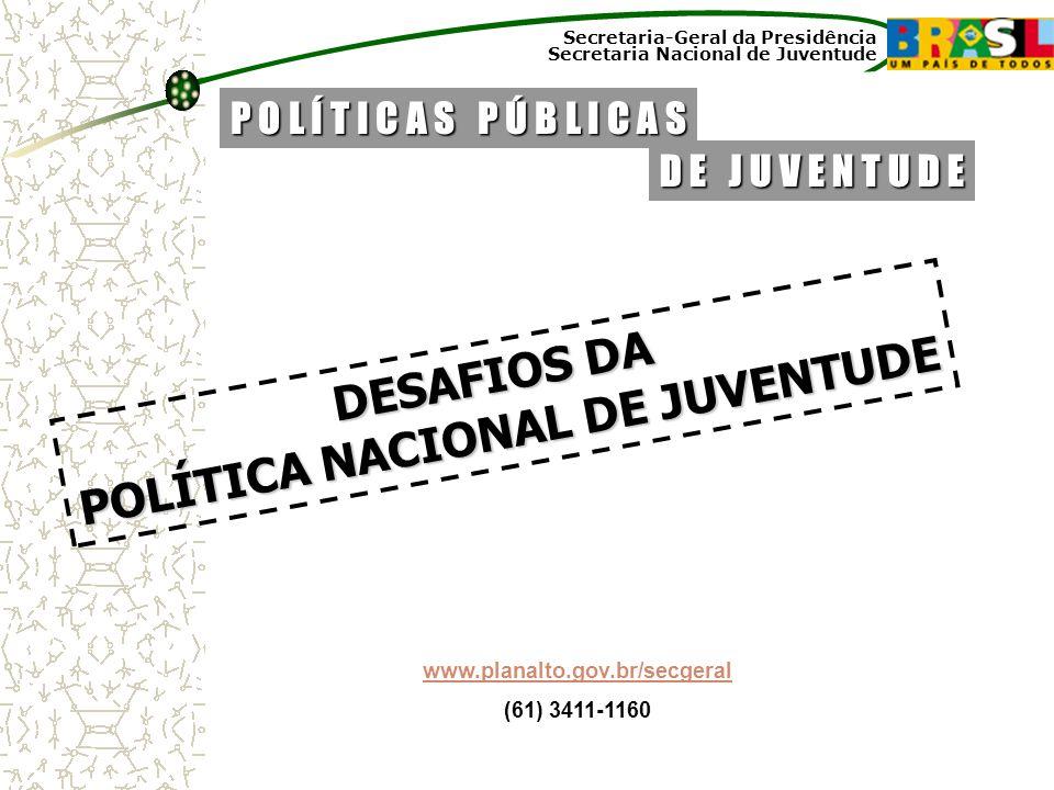 POLÍTICA NACIONAL DE JUVENTUDE