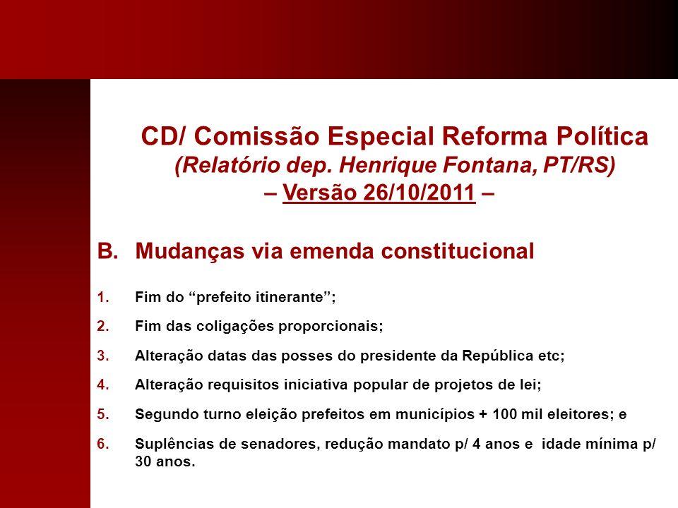 CD/ Comissão Especial Reforma Política (Relatório dep