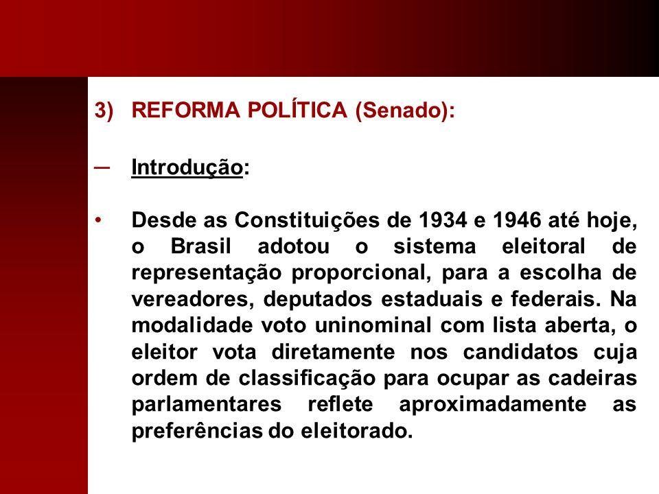 REFORMA POLÍTICA (Senado):