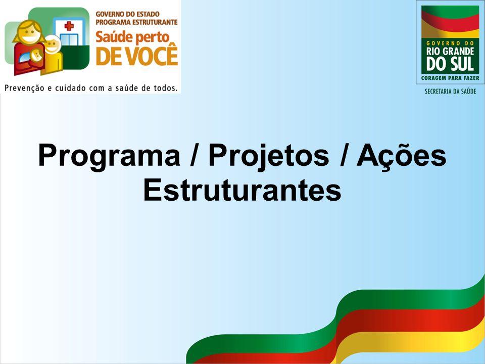 Programa / Projetos / Ações