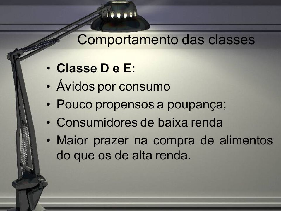 Comportamento das classes