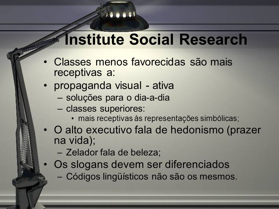 Institute Social Research