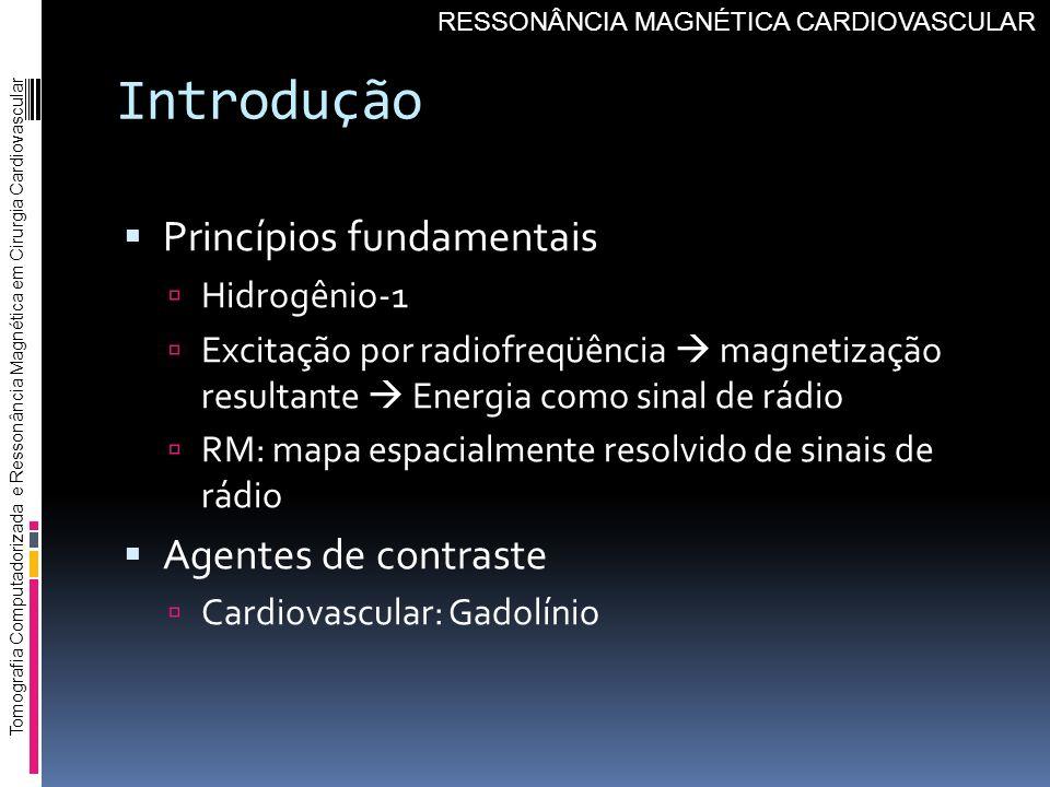 Introdução Princípios fundamentais Agentes de contraste Hidrogênio-1