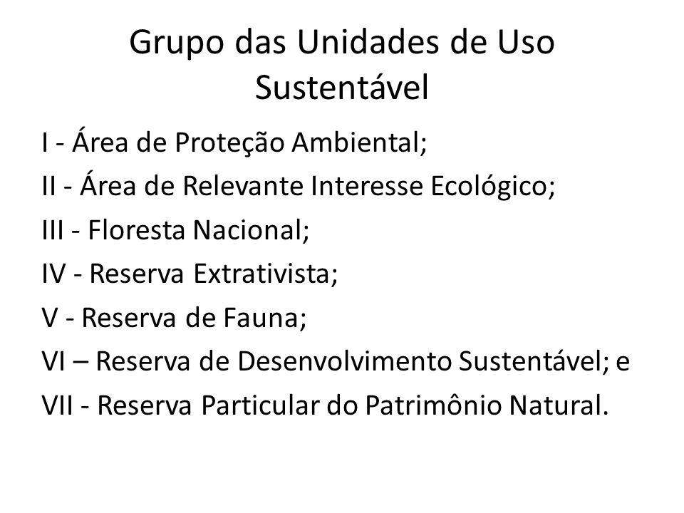 Grupo das Unidades de Uso Sustentável