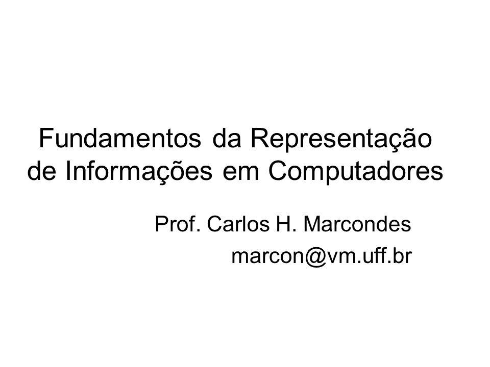 Fundamentos da Representação de Informações em Computadores