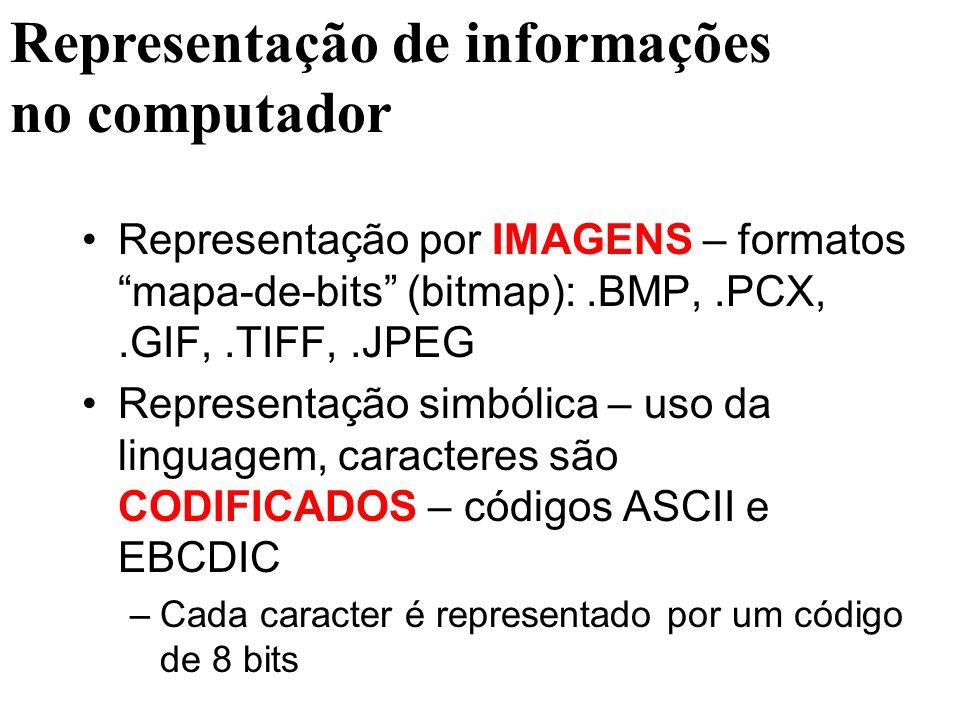 Representação de informações no computador