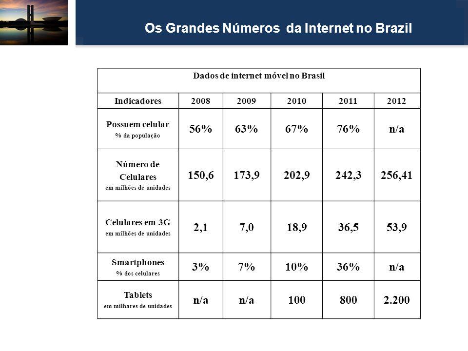 Os Grandes Números da Internet no Brazil