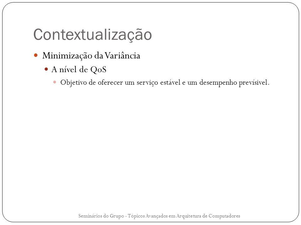 Contextualização Minimização da Variância A nível de QoS