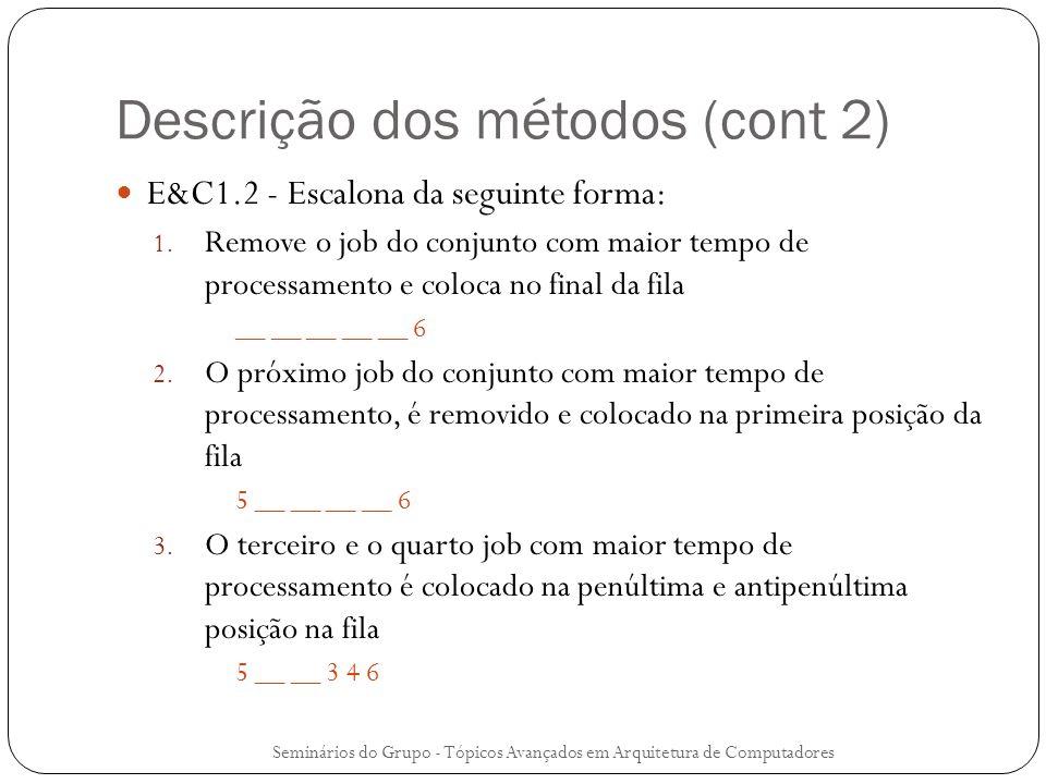 Descrição dos métodos (cont 2)