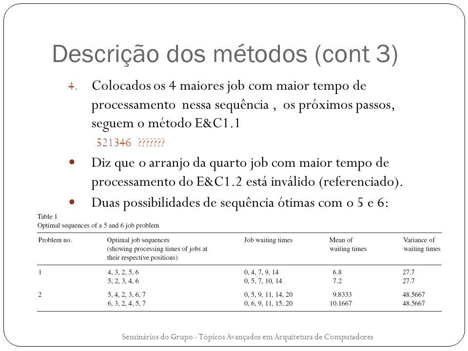 Descrição dos métodos (cont 3)