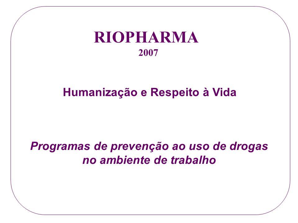 Programas de prevenção ao uso de drogas no ambiente de trabalho