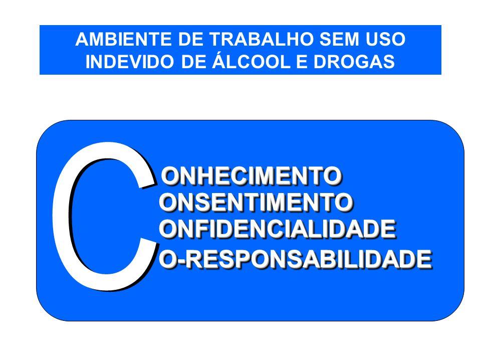 AMBIENTE DE TRABALHO SEM USO INDEVIDO DE ÁLCOOL E DROGAS