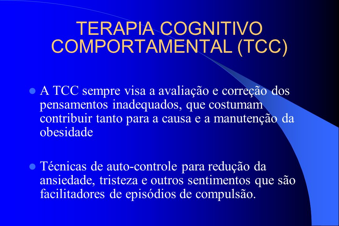 TERAPIA COGNITIVO COMPORTAMENTAL (TCC)