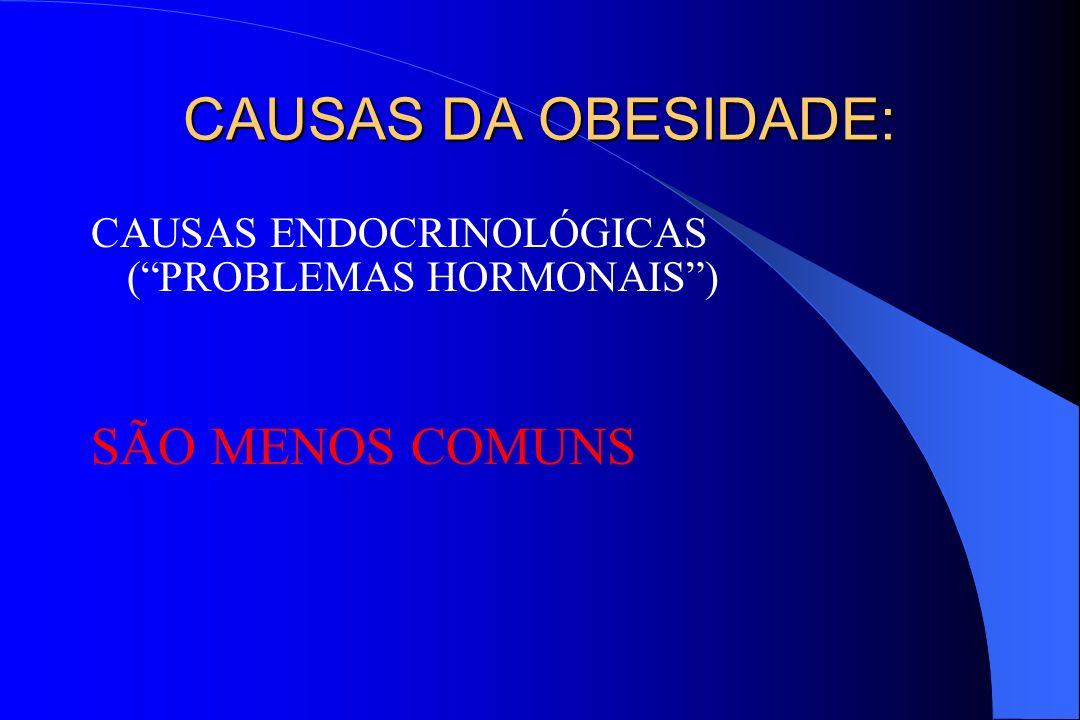 CAUSAS DA OBESIDADE: SÃO MENOS COMUNS