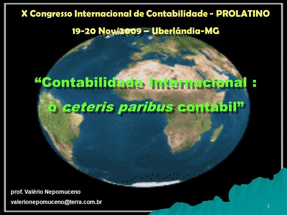Contabilidade Internacional : o ceteris paribus contábil