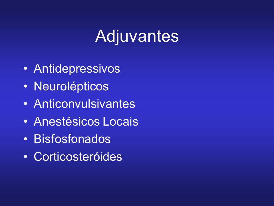 Adjuvantes Antidepressivos Neurolépticos Anticonvulsivantes