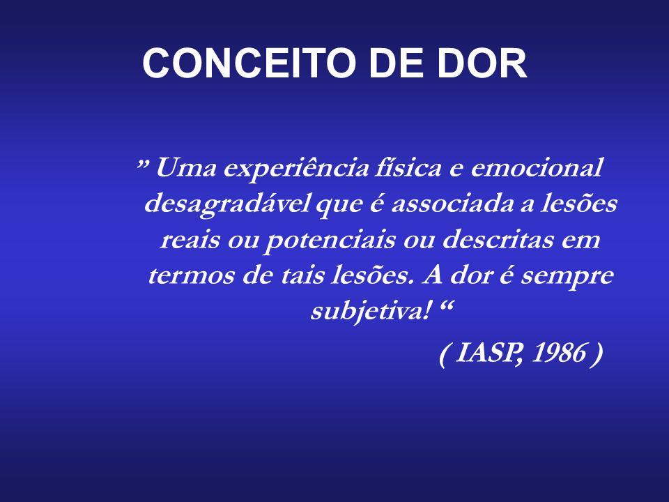 CONCEITO DE DOR