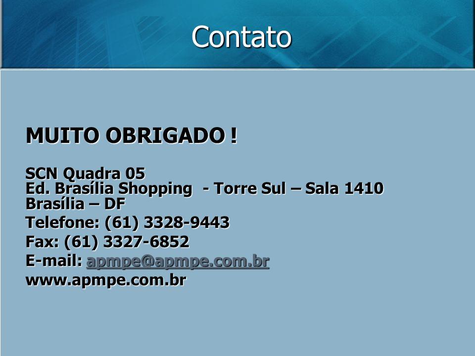 Contato MUITO OBRIGADO ! SCN Quadra 05