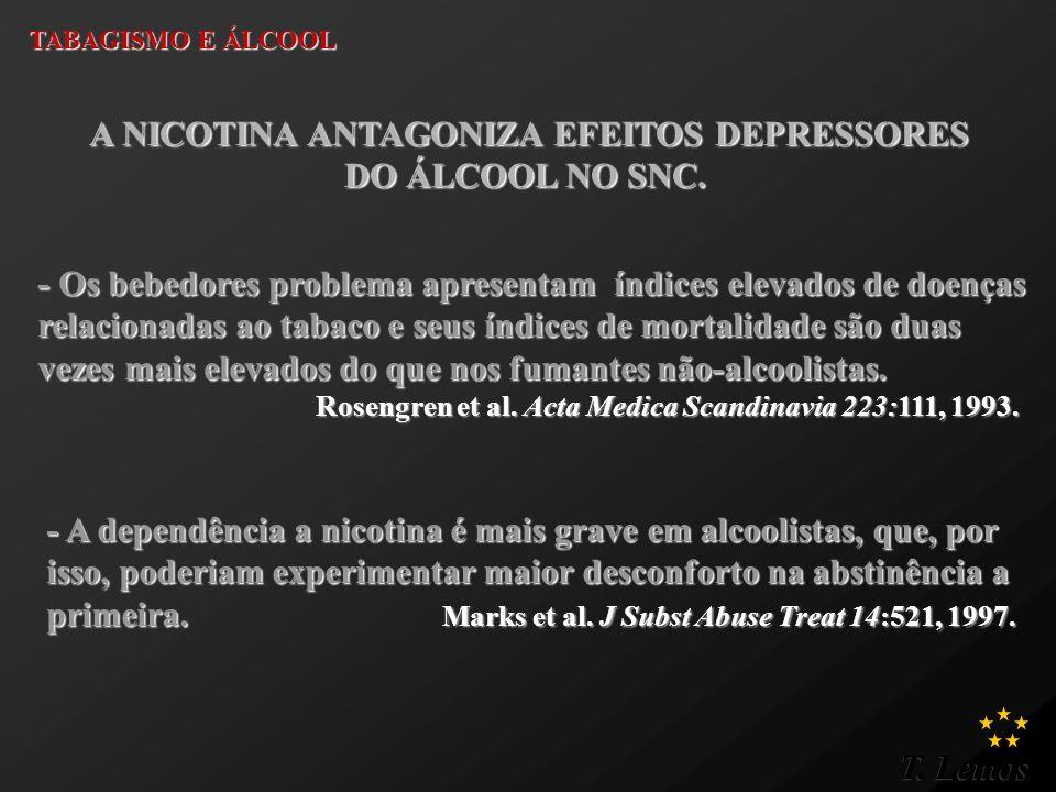 A NICOTINA ANTAGONIZA EFEITOS DEPRESSORES