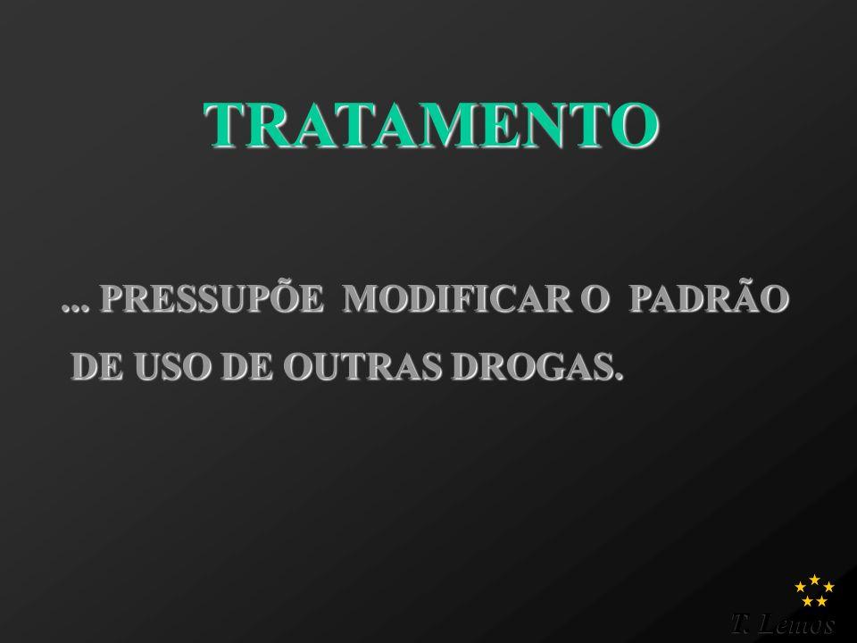 ... PRESSUPÕE MODIFICAR O PADRÃO DE USO DE OUTRAS DROGAS.