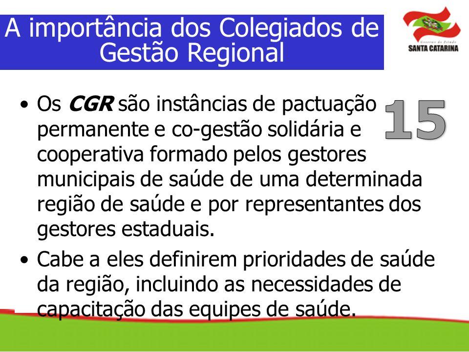 A importância dos Colegiados de Gestão Regional
