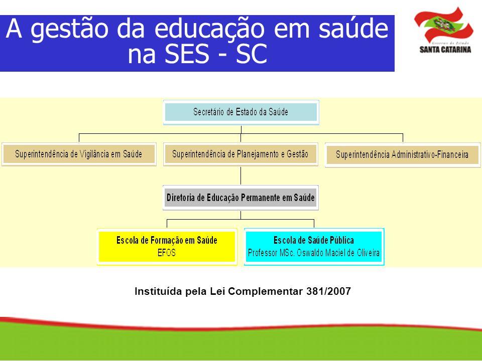 Instituída pela Lei Complementar 381/2007