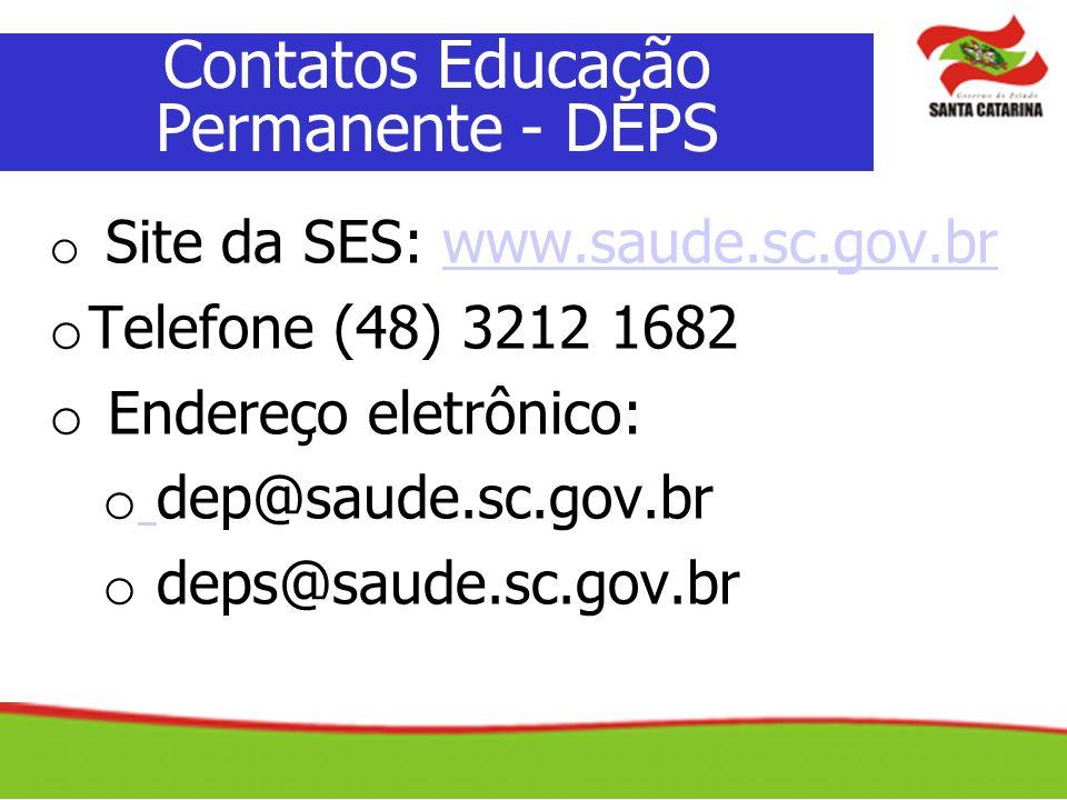Contatos Educação Permanente - DEPS