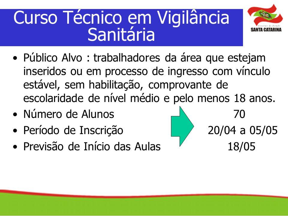 Curso Técnico em Vigilância Sanitária
