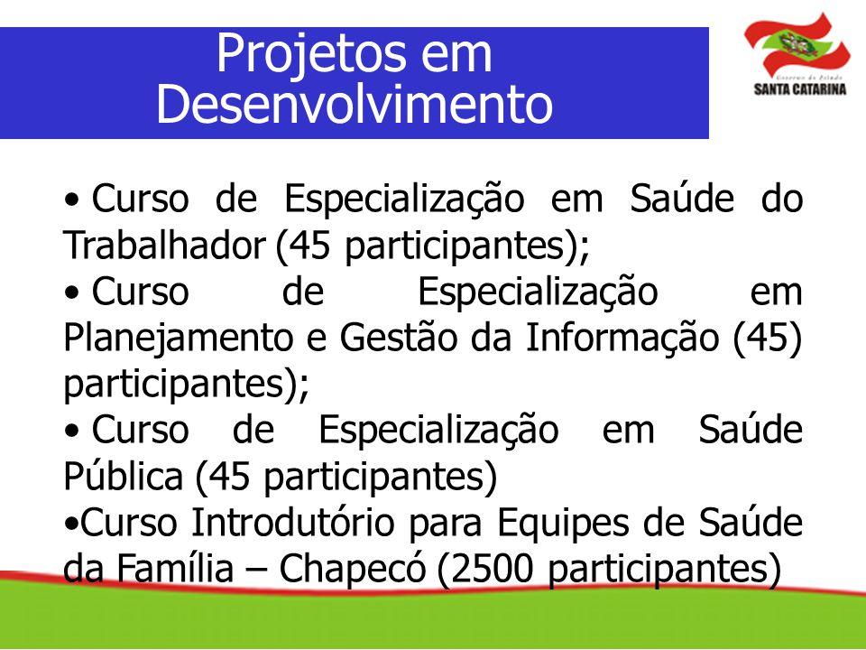 Projetos em Desenvolvimento