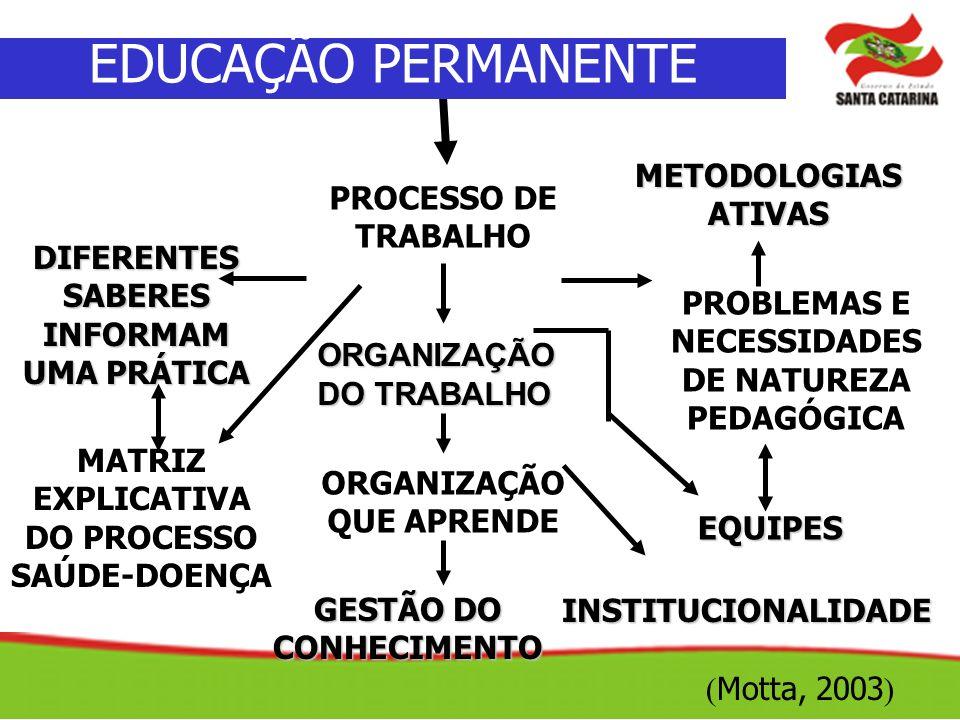 EDUCAÇÃO PERMANENTE METODOLOGIAS ATIVAS PROCESSO DE TRABALHO