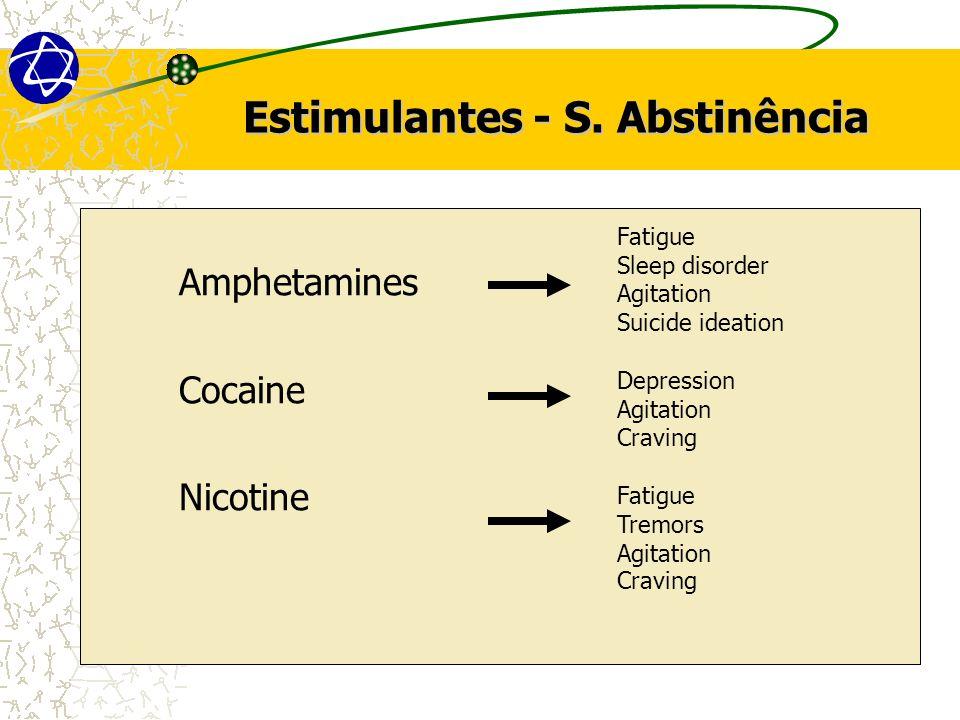 Estimulantes - S. Abstinência