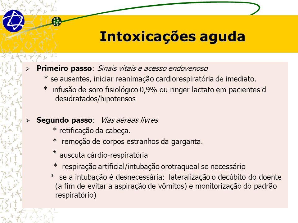 Intoxicações aguda * auscuta cárdio-respiratória