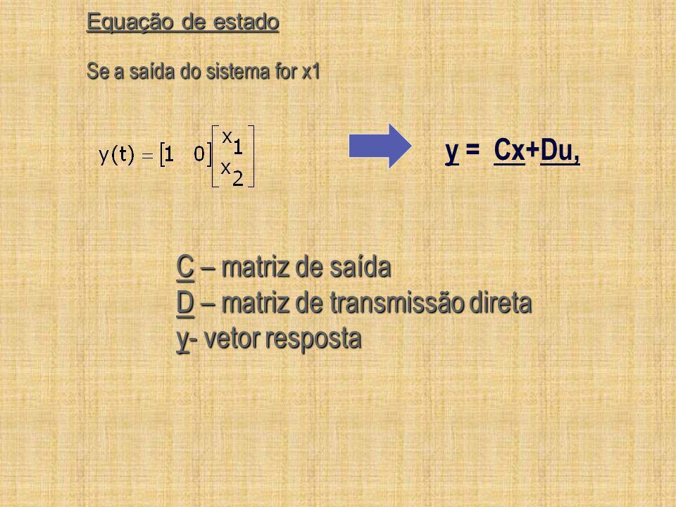D – matriz de transmissão direta y- vetor resposta