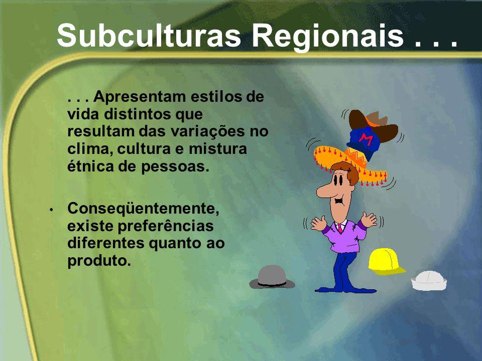 Subculturas Regionais . . .