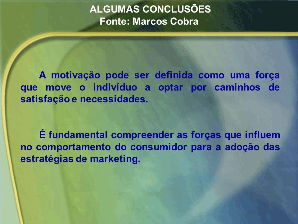 ALGUMAS CONCLUSÕES Fonte: Marcos Cobra