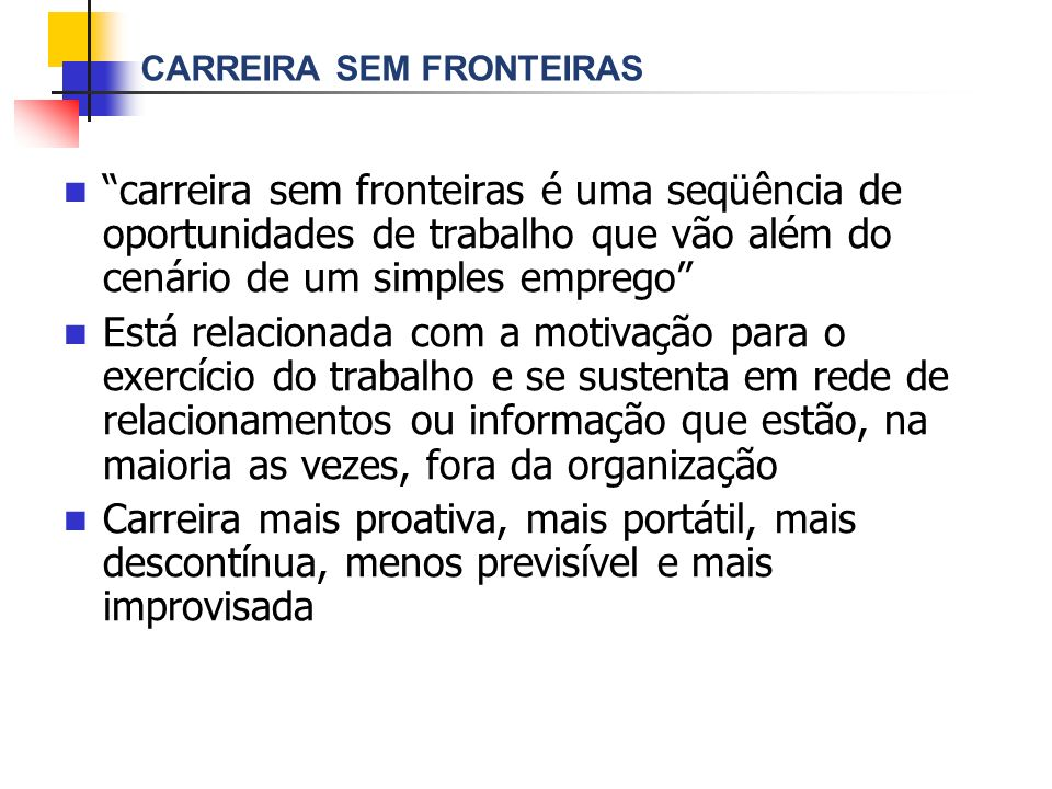 CARREIRA SEM FRONTEIRAS