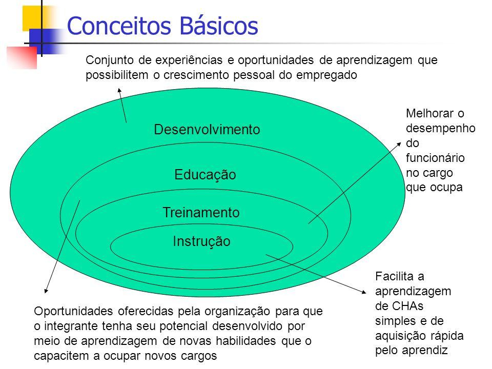 Conceitos Básicos Desenvolvimento Educação Treinamento Instrução
