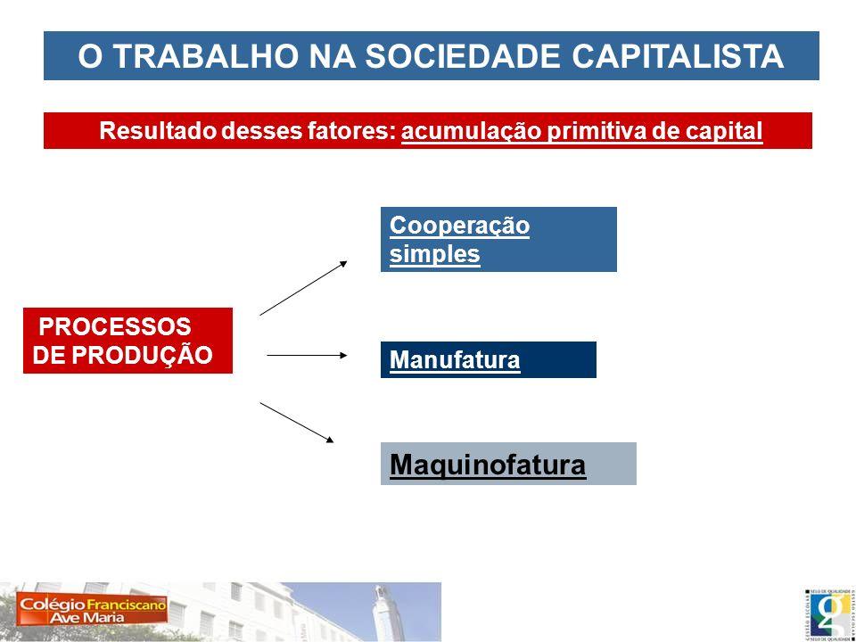 O TRABALHO NA SOCIEDADE CAPITALISTA