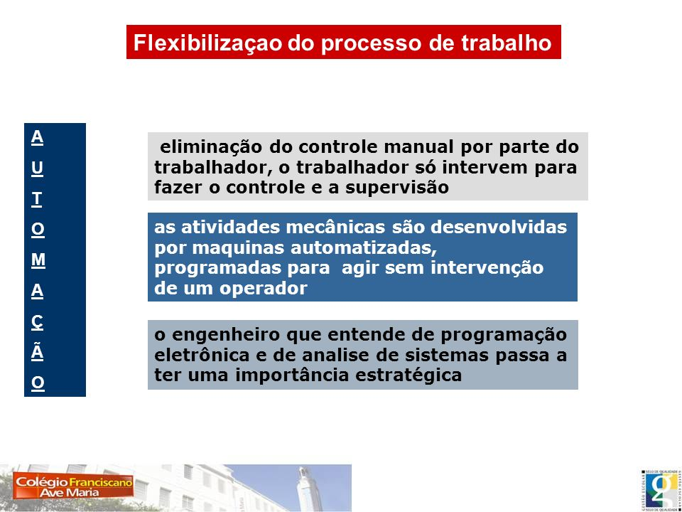 Flexibilizaçao do processo de trabalho