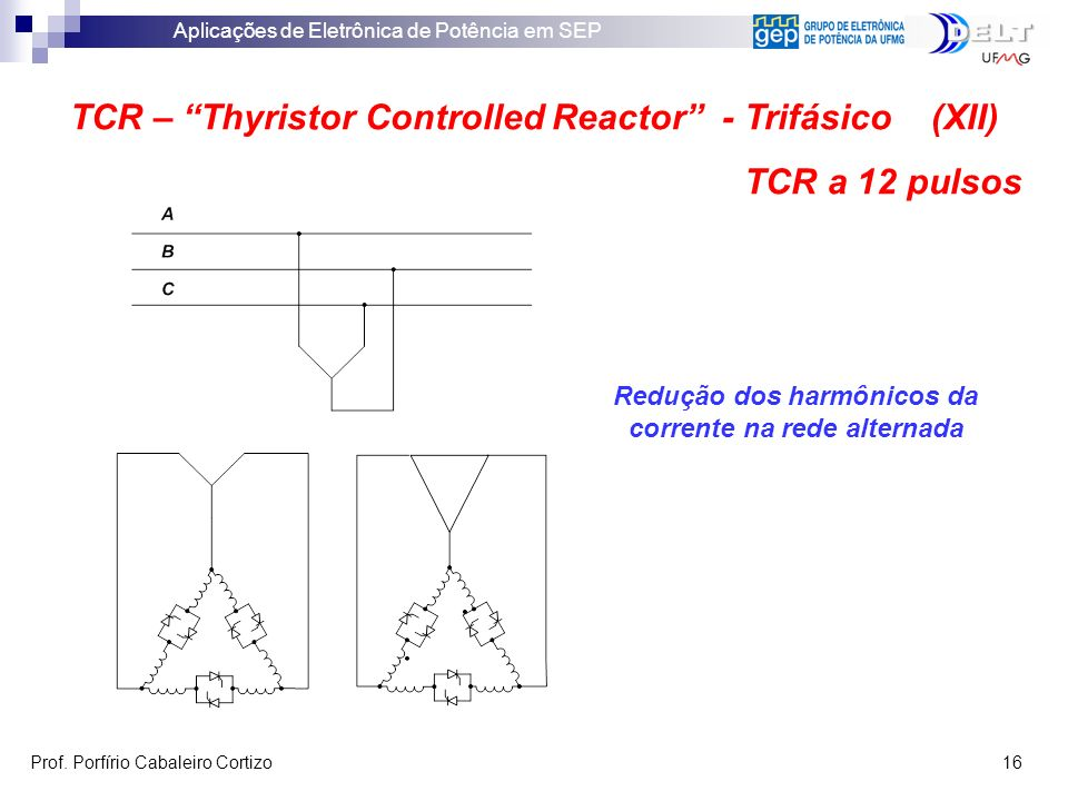 TCR – Thyristor Controlled Reactor - Trifásico (XII) TCR a 12 pulsos