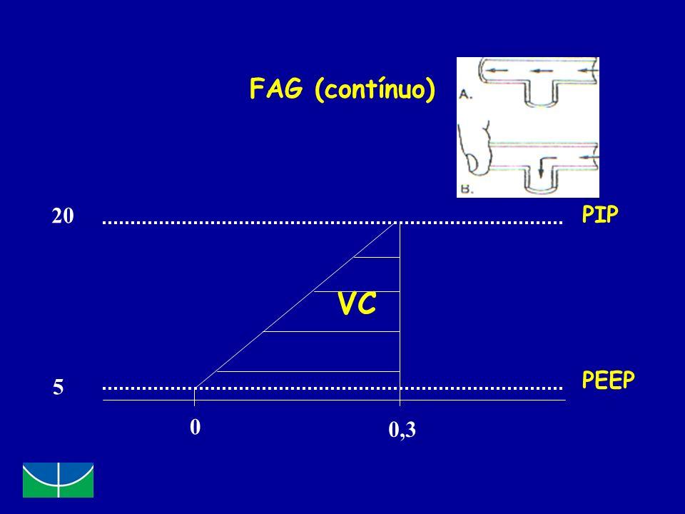 FAG (contínuo) 20 PIP VC PEEP 5 0,3