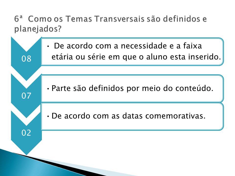 6ª Como os Temas Transversais são definidos e planejados
