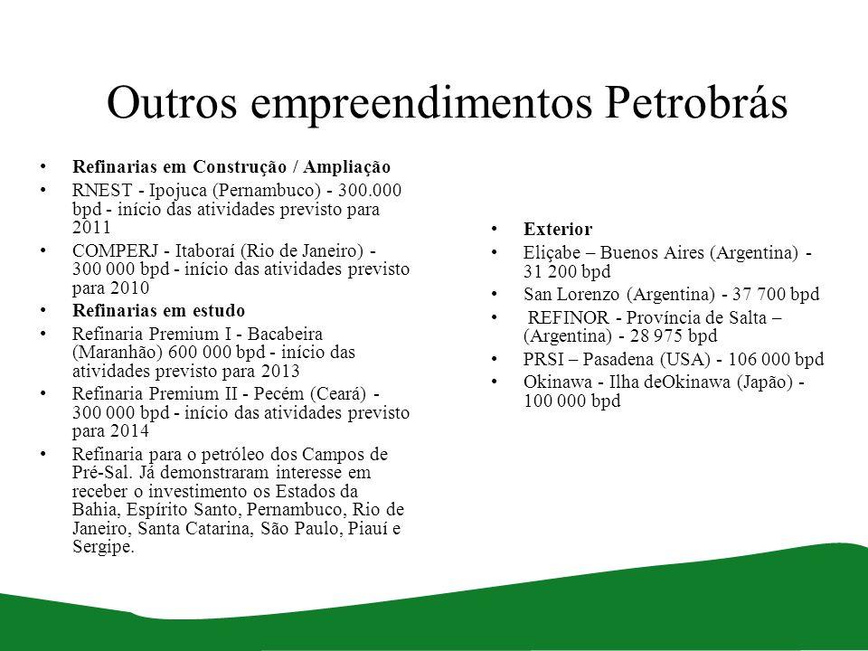 Outros empreendimentos Petrobrás