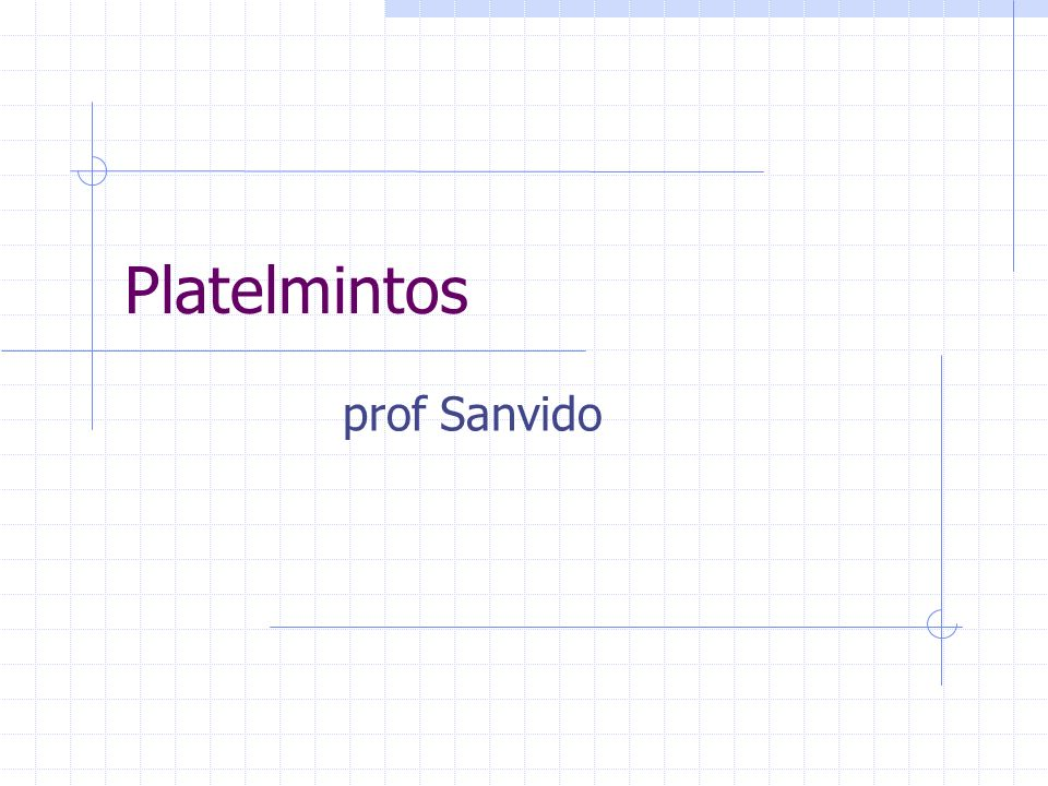 Platelmintos prof Sanvido