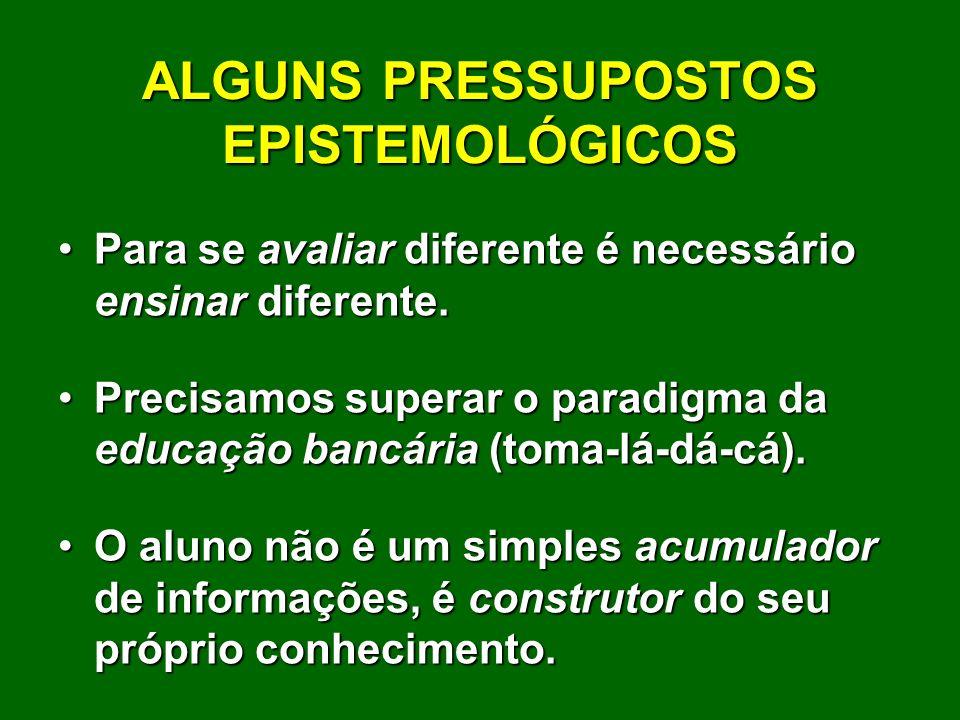 ALGUNS PRESSUPOSTOS EPISTEMOLÓGICOS