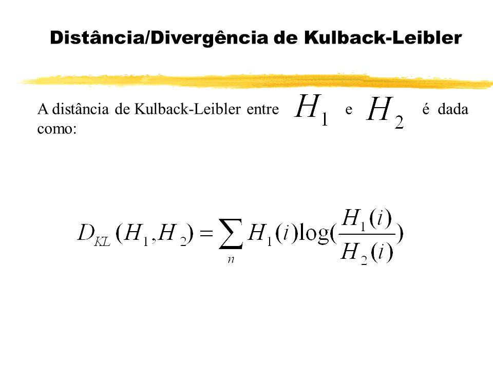Distância/Divergência de Kulback-Leibler