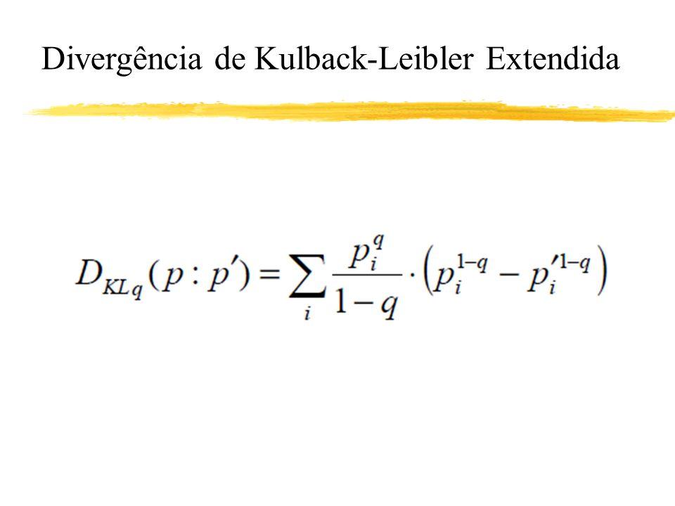 Divergência de Kulback-Leibler Extendida