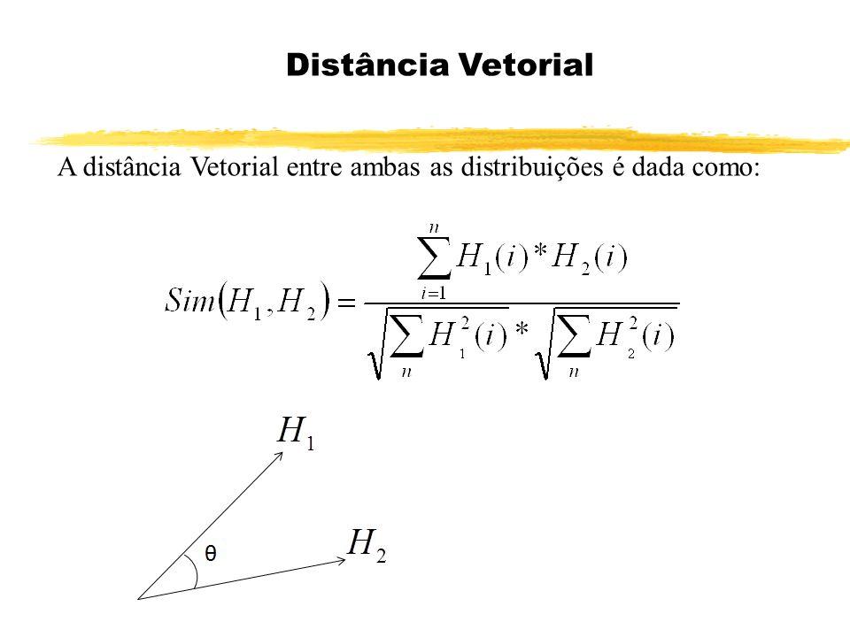 A distância Vetorial entre ambas as distribuições é dada como: