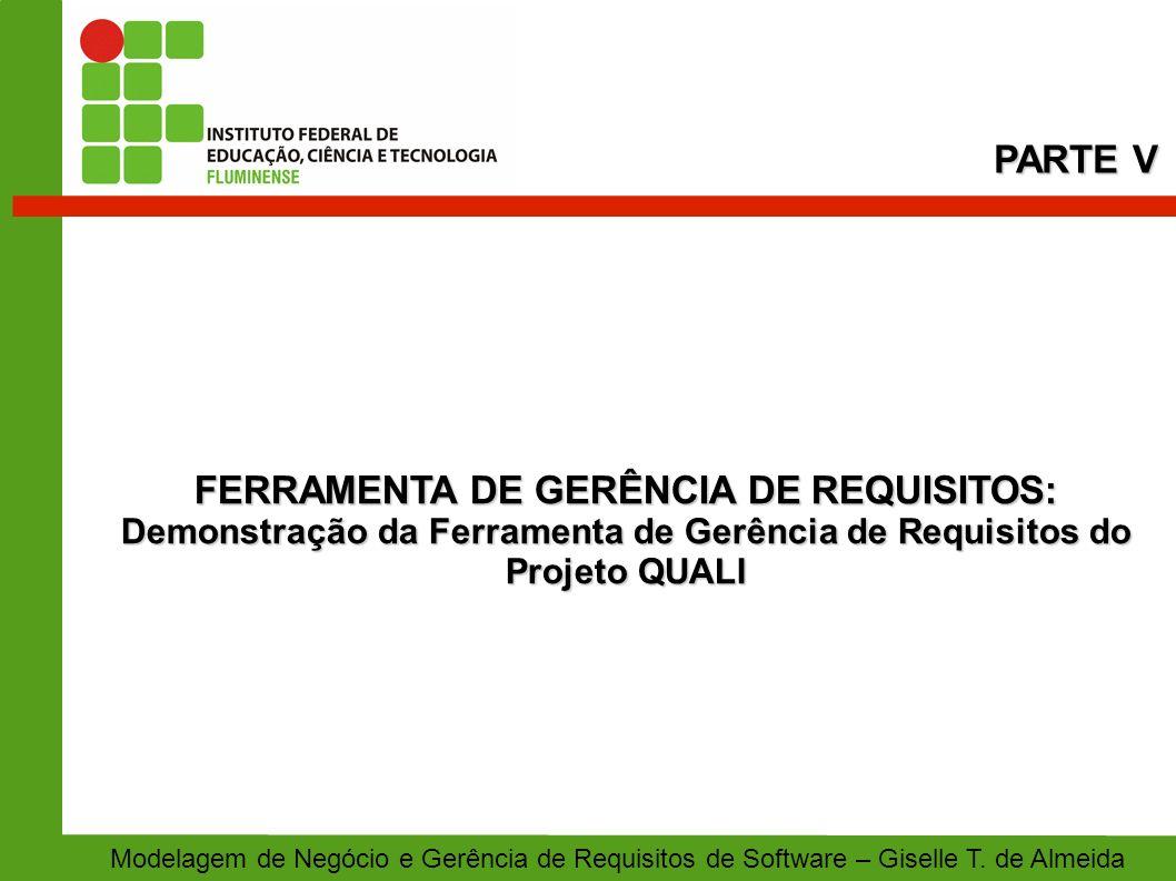 FERRAMENTA DE GERÊNCIA DE REQUISITOS: